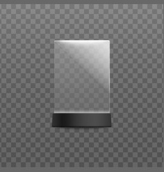 Plexiglass menu and cards desktop stand template vector