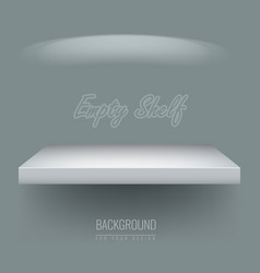 Realistic empty shelf for exhibit your objects vector