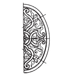 Renaissance elliptic panel is a decorated pattern vector