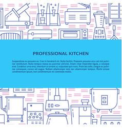 restaurant cooking equipment concept banner in vector image