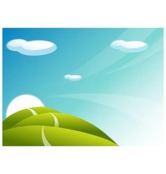 Rolling landscape Path vector