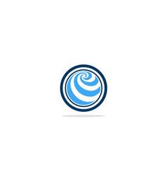 round circle globe abstract logo vector image