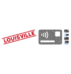 Scratched louisville line stamp with collage vector