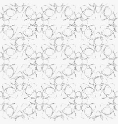 seamless grunge ornate pattern-17 vector image