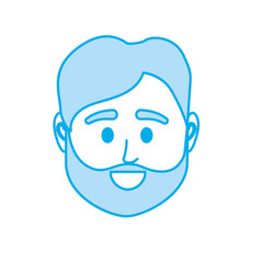 silhouette avatar man head to social user vector image