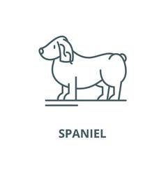 spaniel line icon linear concept outline vector image