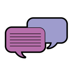Speech bubbles chat icon vector