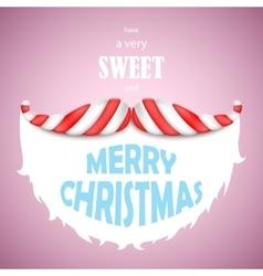 Sweet Merry Christmas vector image