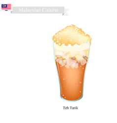 Teh Tarik A Famous Beverage in Malaysia vector