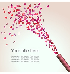 Valentine confetti vector image
