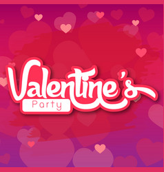 Valentine day purple bg party image vector