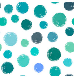 Watercolor circles seamless pattern vector