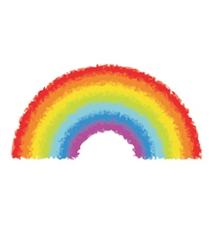 Watercolor rainbow vector