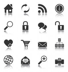 Web and internet icons vector