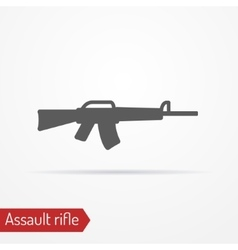 Assault rifle silhouette icon vector