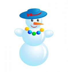 fashion snowman vector image