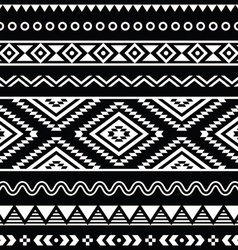folk seamless aztec ornament pattern vector image