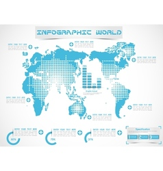 INFOGRAPHIC WORLD MODERN EDITION 3 vector image vector image