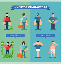investor characters set vector image vector image