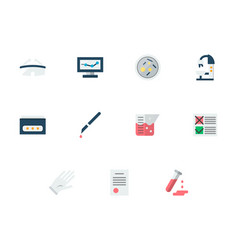 medical expertise flat icons set vector image