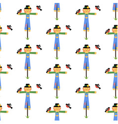 scarecrow seamless pattern vector image vector image