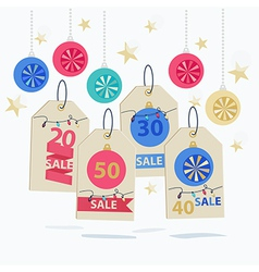 Set of colorful New Year Sale labels vector image vector image