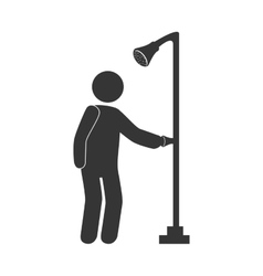 Take a shower theme design vector image