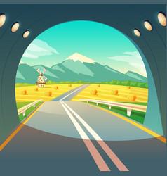 village landscape view vector image