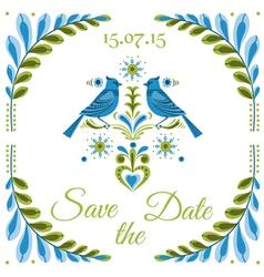 Vintage Invitation Bird Postcard vector image vector image