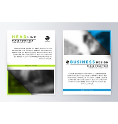 Flyer cover design green and blue Template vector image vector image