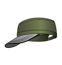 military cap vector image vector image