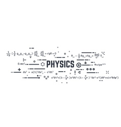 Physics line equations vector image vector image