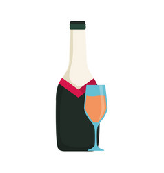 bottle wine vector image vector image