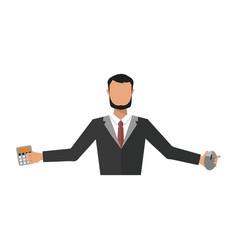 Business man office job stress work vector