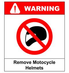 remove motorcycle helmets icon symbol protection vector image
