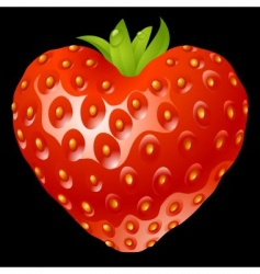 strawberry heart vector image vector image
