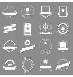 Vintage retro flat badges labels vector image vector image