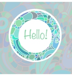 Cute card template in blue colors Stylish vector image