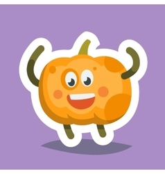 Emoticon Icon Happy Pumpkin vector image vector image
