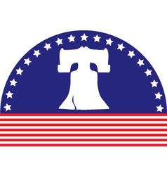 liberty bell flag vector image
