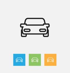 Of kin symbol on car outline vector
