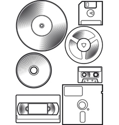 Old device floppy vector image