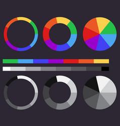 Set of color gradients color circle vector