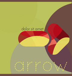 abstract geometric background arrow vector image