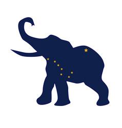 alaska republican elephant flag vector image