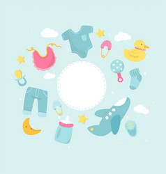 Baby shower theme copy space vector