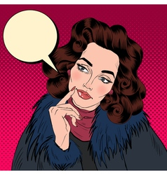 Beautiful Woman in Pop Art Comics Style vector image