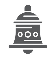 Bell glyph icon alarm and ring handbell sign vector