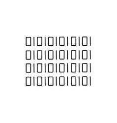 binary code icon vector image
