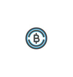 bit coins icon line design e commerce icon vector image